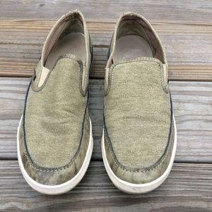 Steve Madden Men Loafer Shoe Green Leather/Fabric